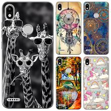Kasus Soft Silicone Cover Infinix Smart 2 (X5515) 5.45-Inch TPU Fashion Colorful Pola Dicat Transparan Case(China)