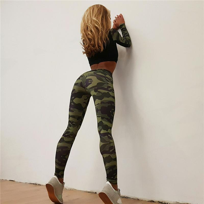 Patchwork Camouflage Sport Leggings Women Tights Slim Fitness Yoga Pant Elastic Workout Bottoms Yoga LeggingPatchwork Camouflage Sport Leggings Women Tights Slim Fitness Yoga Pant Elastic Workout Bottoms Yoga Legging