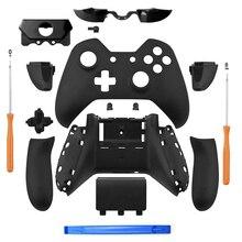 Boîtier de contrôleur noir mat coque complet plaques avant boutons pour contrôleur Xbox One avec le casque 3.5mm Jack Xbox one