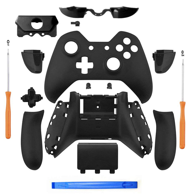 Nero opaco Controller Custodia Borsette Set Completo Faceplate Bottoni per Xbox One Controller Con il 3.5 millimetri auricolare Martinetti Xbox one