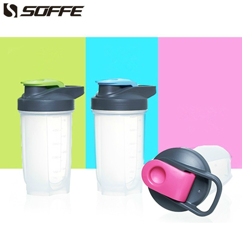 Soffe 500ml Frosetd Plastic Sport Water Bottle Shaker Protein Bottle Bpa Free With Lid Handgirp Bicycle Tour My Fitness Bottles|Water Bottles|   - AliExpress