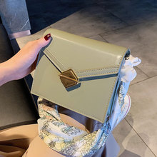 Female Scarves Bow Crossbody Bags For Women 2019 Quality PU Leather Luxury Handbags Designer Ladies Chain Shoulder Messenger Bag