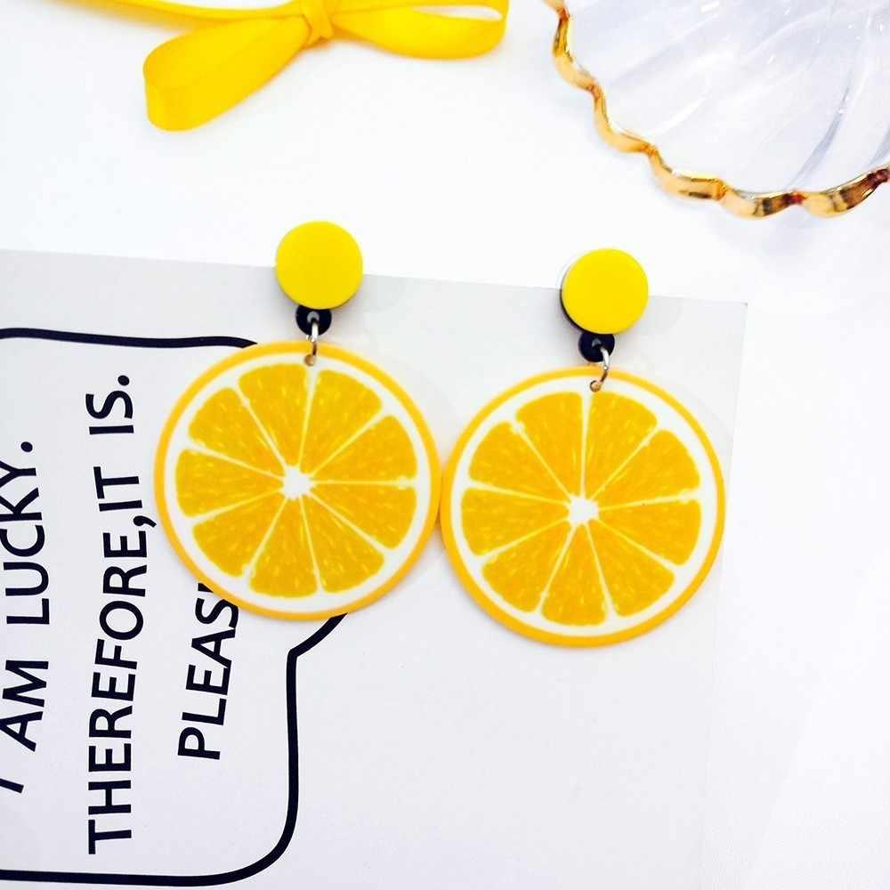 Корейские модные женские аксессуары, летние милые желтые карамельные серьги с кисточкой, геометрические свисающие серьги для девушек, милые ювелирные изделия