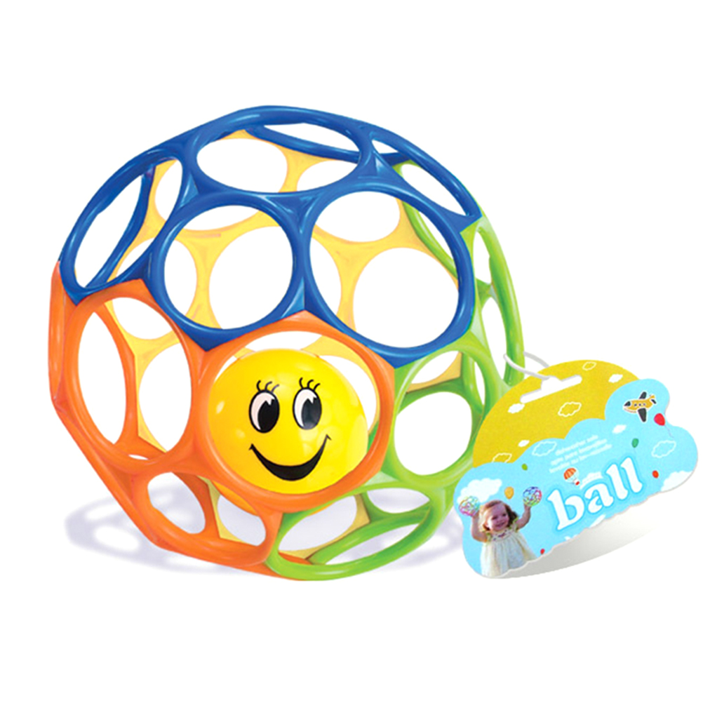 Baby Kids Pliable Ball Grasping Ball Bell Exquisite Ball Educational Ball Toys
