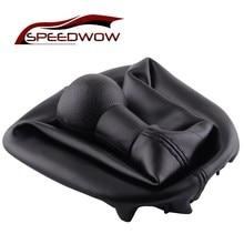 SPEEDWOW 5 speed Car PU Leather Dustproof Cover Shift Knob Shifter Boot Cover For PEUGEOT 207 307 406 for CITROEN C3 C4 C5 XSARA термостат kraft для peugeot citroen 307 00 406 96 c5 04 2 0i 89c