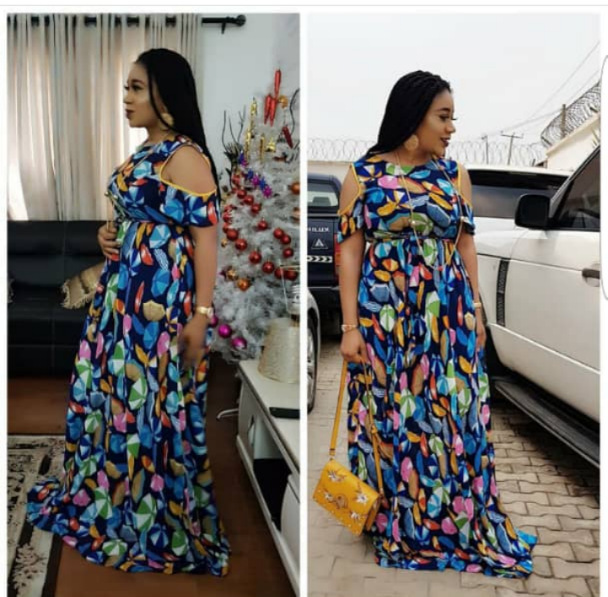 2019 New Fashion Style African Women Plus Size Long Dress