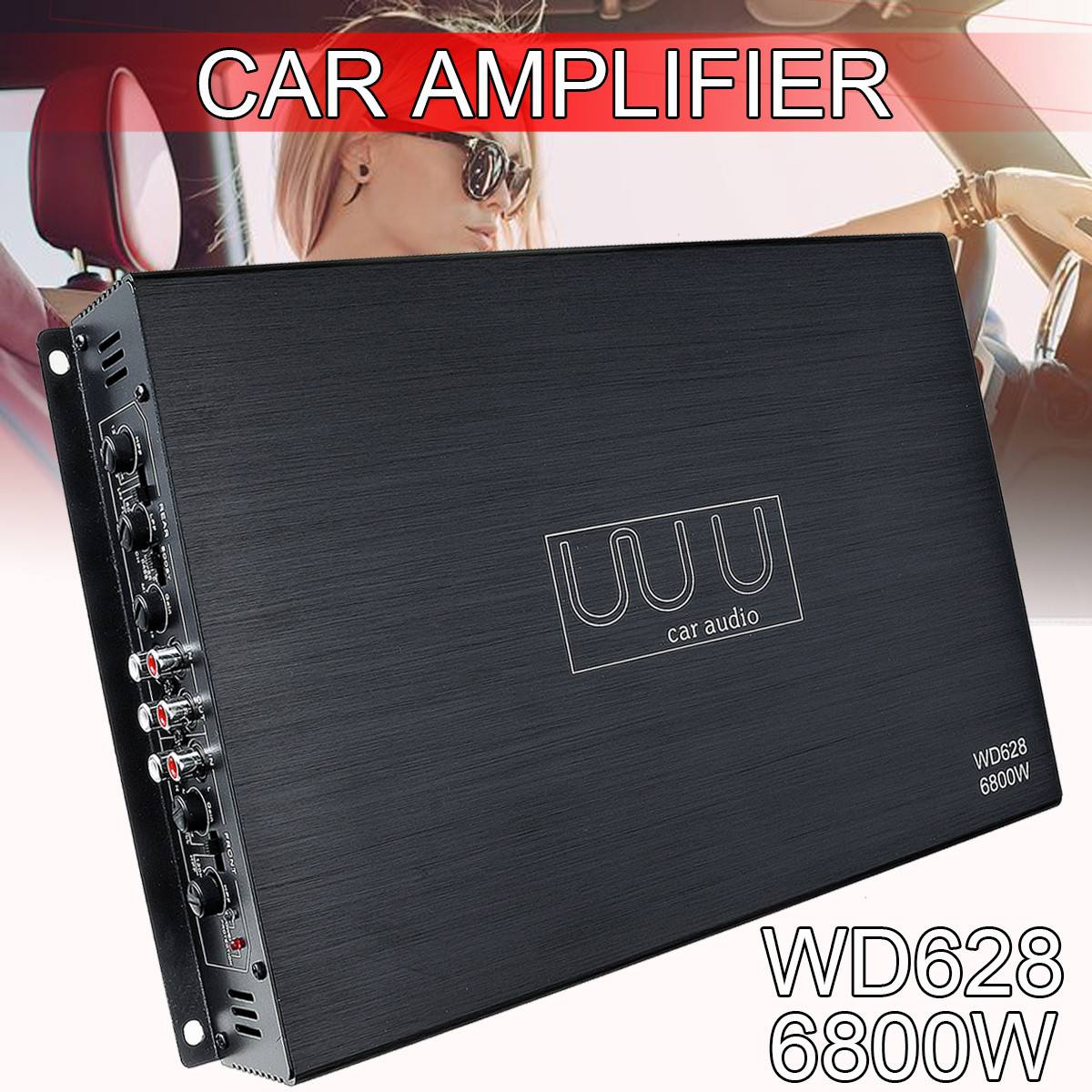 DC 12V 6800 Watt 4 Channel Car Amplifier Audio Stereo Bass Speaker Car Audio Amplifiers Subwoofer