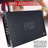 DC 12V 6800 Watt 4 Channel Car Amplifier Audio Stereo Bass Speaker Car Audio Amplifiers Subwoofer Car Audio Amplifiers