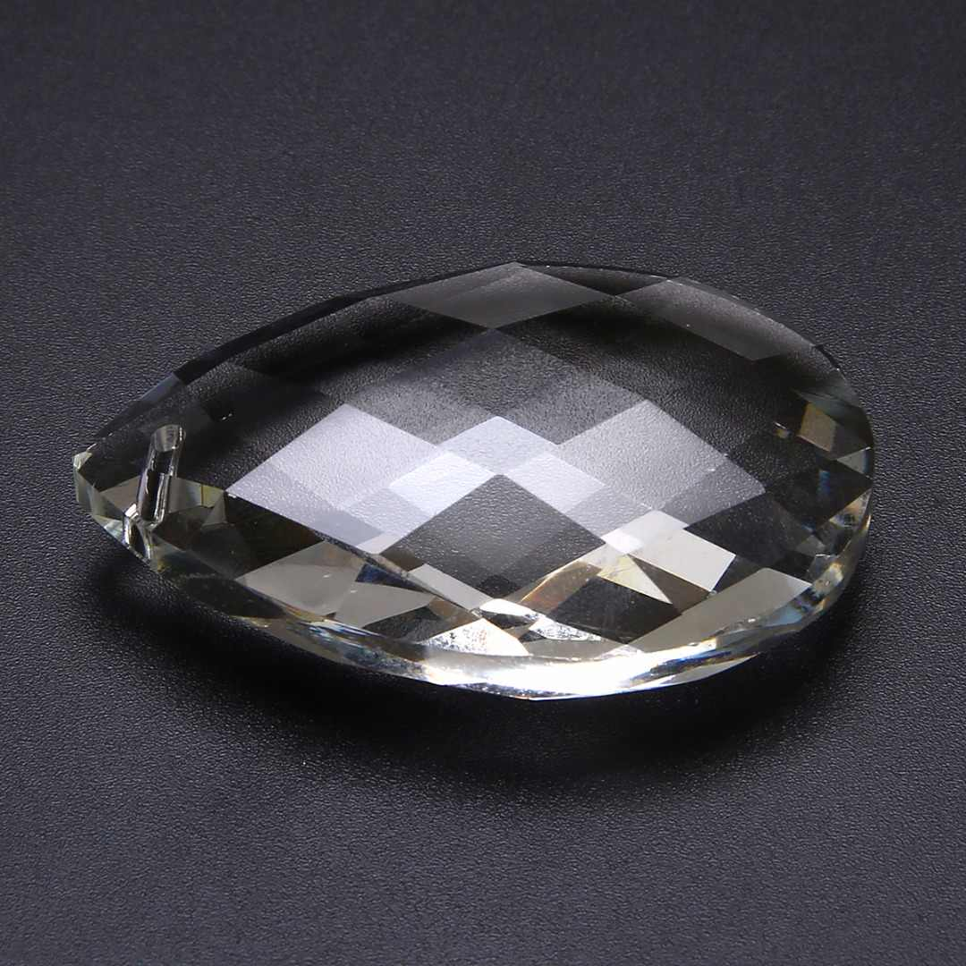 1 шт. Новые прозрачные стеклянные кристаллы Ламповые призмы части Висячие капли подвески 63 мм DIY Декор Аксессуары