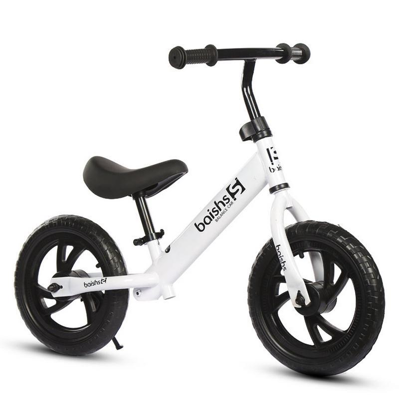 12 pouces bébé marcheur Balance vélo solide sûr enfants Scooter en acier à haute teneur en carbone enfants marcheur sans pédales vélo enfant