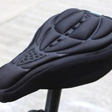 Велосипедная велосипедная 3D Силиконовая гелевая накладка на сиденье, чехол на седло, мягкая подушка, защитная накладка на сиденье, черный цвет