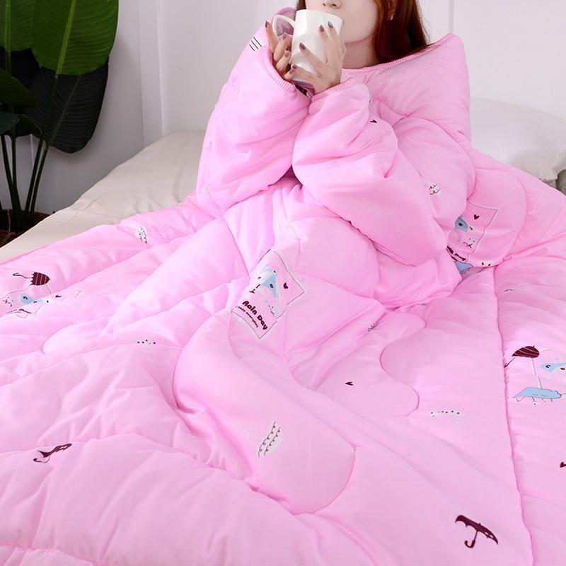 Automne et hiver épais paresseux couette avec manches couettes chaud dortoir couverture Cape Cape Cape sieste couverture maison literie