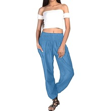 Women High Waist Pants Casual Loose Long Palazzo Skinny Lounge Wear Trouser Summer Home Pants Elastic Waist Lady Sportswear Pant