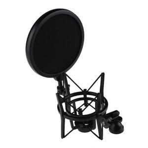 Image 3 - Microfono professionale Mic Shock Mount con Scudo Schermo del Filtro Mic Shock Mount Supporto Della Staffa Per Il Grande Membrana Microfono