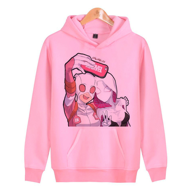 Gwenpool 2019 Clothes Hoodies Men Women High Quality Sweatshirts Cotton Fashion Casual Pullover Hoodies N7096