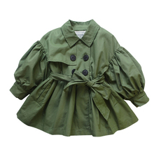 spring girl jackets girls outerwear coats green kids jacket toddler baby clothes fashion