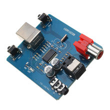 LEORY 1Pcs 3.5mm Audio Analog Optical DAC USB to S/PDIF Sound Card Decoder Board Coaxial Fiber Output Hi-Fi Module(China)