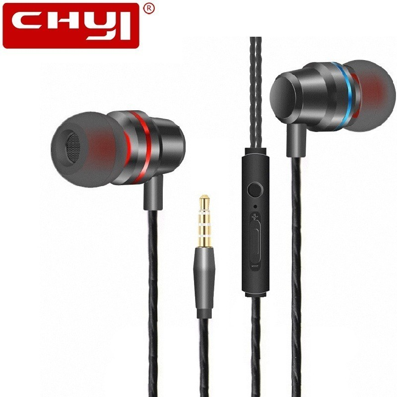Song in Motion Earphone fone de ouvido 3.5mm Mic with Volume Control Stereo Metal Bass Headphones for Samsung Huawei image