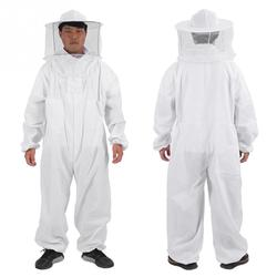 Algodão apicultores abelha terno profissional de corpo inteiro luvas removedor abelha chapéu roupas jaket terno protetor apicultura equipamentos