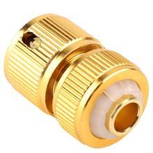 เกลียวทองเหลืองตัวเชื่อมต่อท่อสวนน้ำท่อ Quick Connectors สำหรับรดน้ำระบบชลประทาน