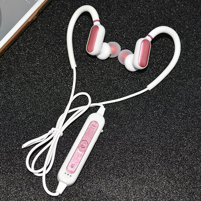 Portable Earphone 4.2 Bluetooths Pluggable Ear Hook Earbuds Anti slip Sweat proof Stereo Hd Bass Sports Music Devices With Mic