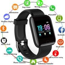 Reloj inteligente deportivo para Android e IOS, reloj inteligente deportivo con control del ritmo cardíaco y de la presión sanguínea monitor, seguidor Fitness hombre y mujer