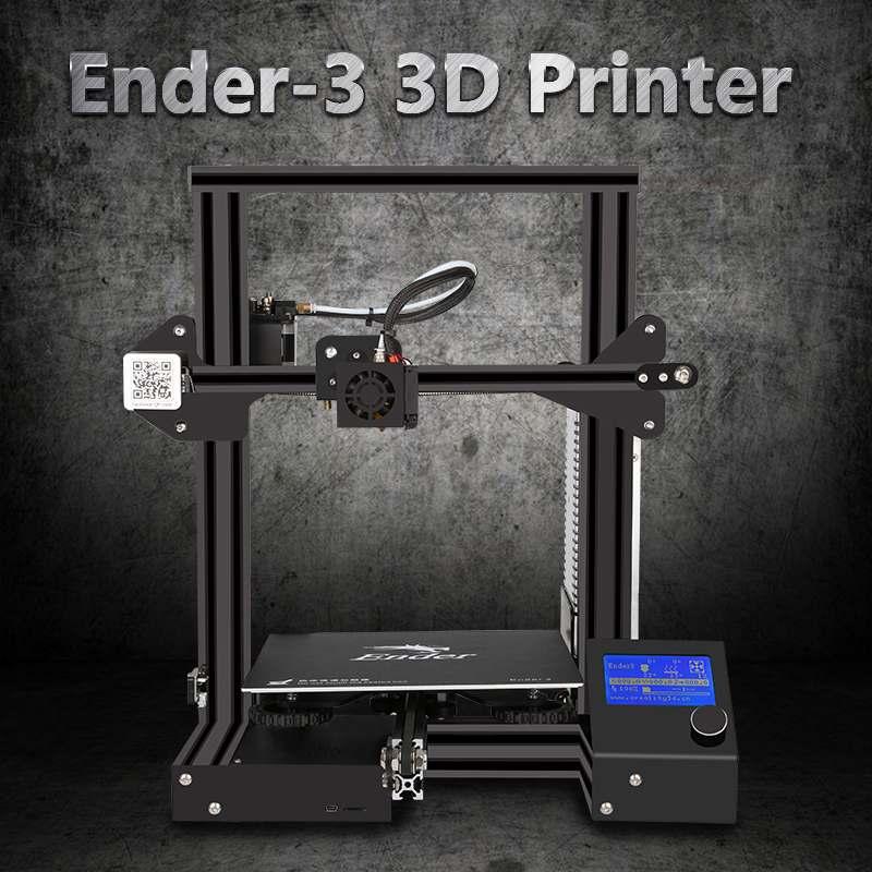 Creality Ender-3 v-slot I3 3D imprimante Kit FDM technologie MK10 extrudeuse 1.75mm 0.4mm buse 220x220x250mm taille imprimante 3D