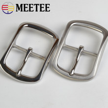 Meetee 40mm Stainless Steel Belt Buckle DIY Metal Accessories for Jeans Clothing Sewing Leather Craft Hardware BD253