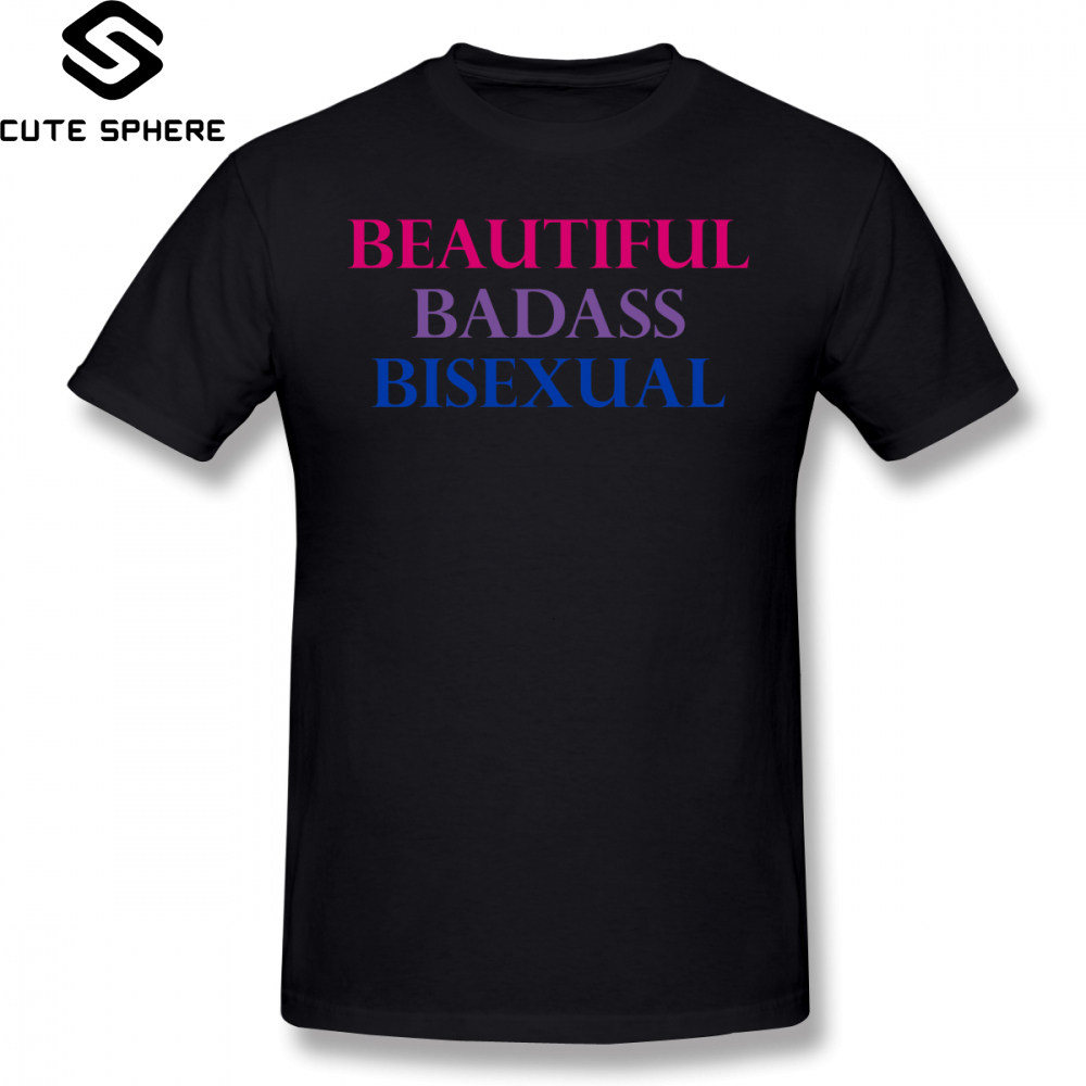 Bisexual T Shirt Bisexual T-Shirt Streetwear Short Sleeve Tee Shirt Fun Plus size Cotton Mens Print Tshirt