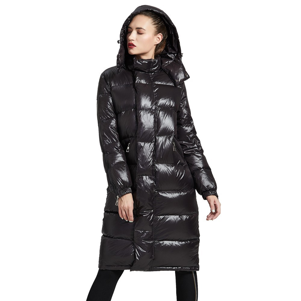 Eva Freedom down coats 2018 New stylish Down Jackets damen long down jacket woman hooded winter loose down coat feminano 189011