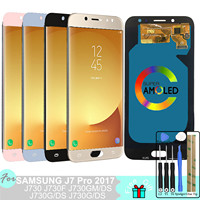 J730 LCD AMOLED for Samsung Galaxy J7 Pro 2017 J730 J730F Display Touch Screen Digitizer Assembly Replacement J730F/G/GM/FN/DS