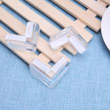 цены 4pcs/set Kids Baby Safety Transparent Corner Protector Anti Collision Edge Corner Soft PVC Resin Children Cover Table Guards