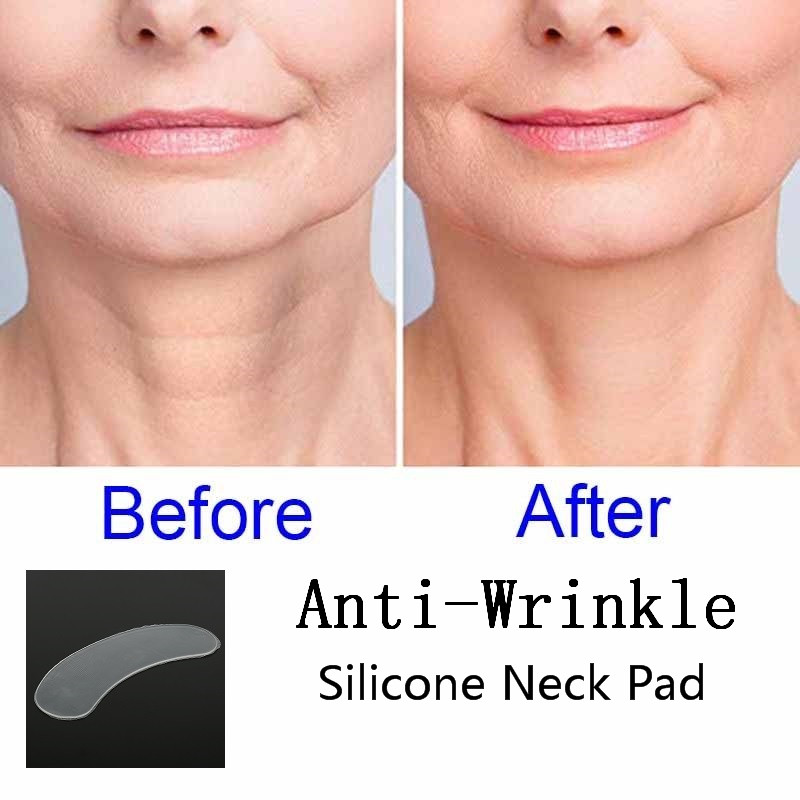 Reusable Anti Wrinkle Neck Pad Silicone Transparent Anti Microgroove Removal Neck Sticker Skin Care Silica Gel Patch TSLM1