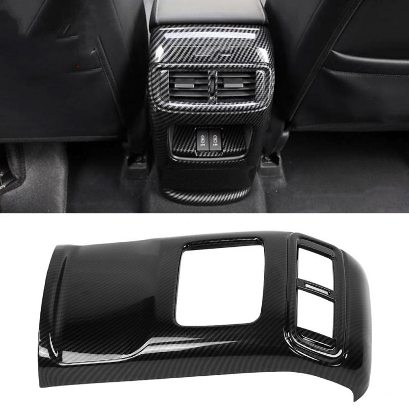 Carbon Fiber Style Center Air Vent Outlet Cover For Honda Accord 2018 Decoration