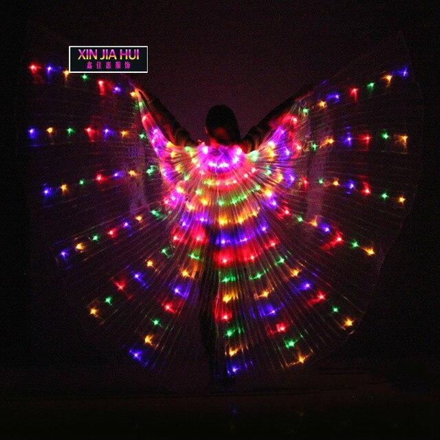 Light เครื่องแต่งกายไฟ Led ส่องสว่างชุด 360 องศาจะ Wing Belly Dance เรืองแสง Prop Circus Circo ชุดเครื่องแต่งกาย
