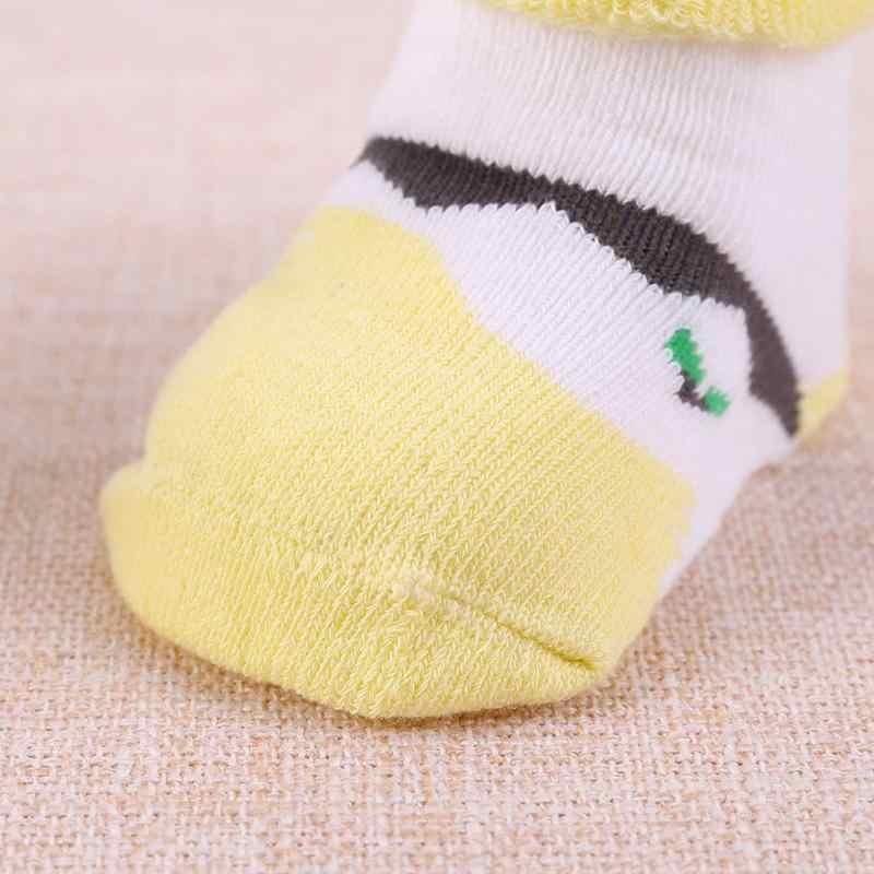Miękkie niemowlęce ciepłe zimowe skarpetki dla noworodków kapcie żakardowe krótkie skarpetki