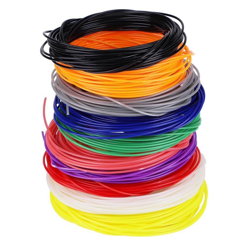 Gewijd 1.75mm Abs Filament Verbruiksartikelen 10 M * 10 Kleuren Voor 3d Printing Pen Printer Gemaakt Van Superieure Abs Materiaal Het Voeden Van Bloed En Het Aanpassen Van De Geest