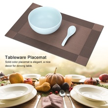 4 Pcs Placemat Fashion PVC Dining Table Mat Plate Pads Bowl Pad Coasters Table Cloth Pad Coffee Mats Table Bowl Mats Home Decor