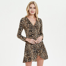 Uguest Women Leopard Dress Print Long Sleeve Summer Beach Dress 2019 TIE DYE Sexy Dresses tie dye racerback dress