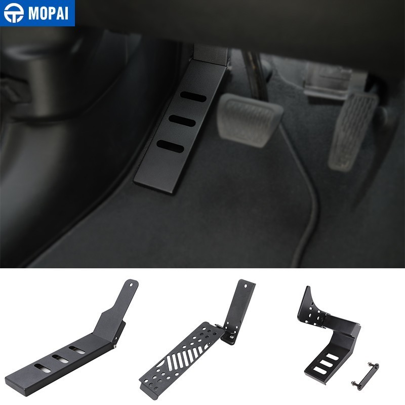 MOPAI Car Foot Pedals for Jeep Wrangler 2018+ Car Brake Gas Foot Pegs Plate Pads Cover for Jeep Wrangler JL Car Accessories