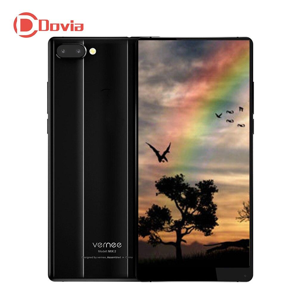 Vernee Mix 2 4g Mobile Téléphone 6.0 Android 7.0 Octa Core 4 gb + 64 gb 13.0MP + 5.0MP Double Arrière Caméras D'empreintes Digitales 4200 mah Téléphone Portable