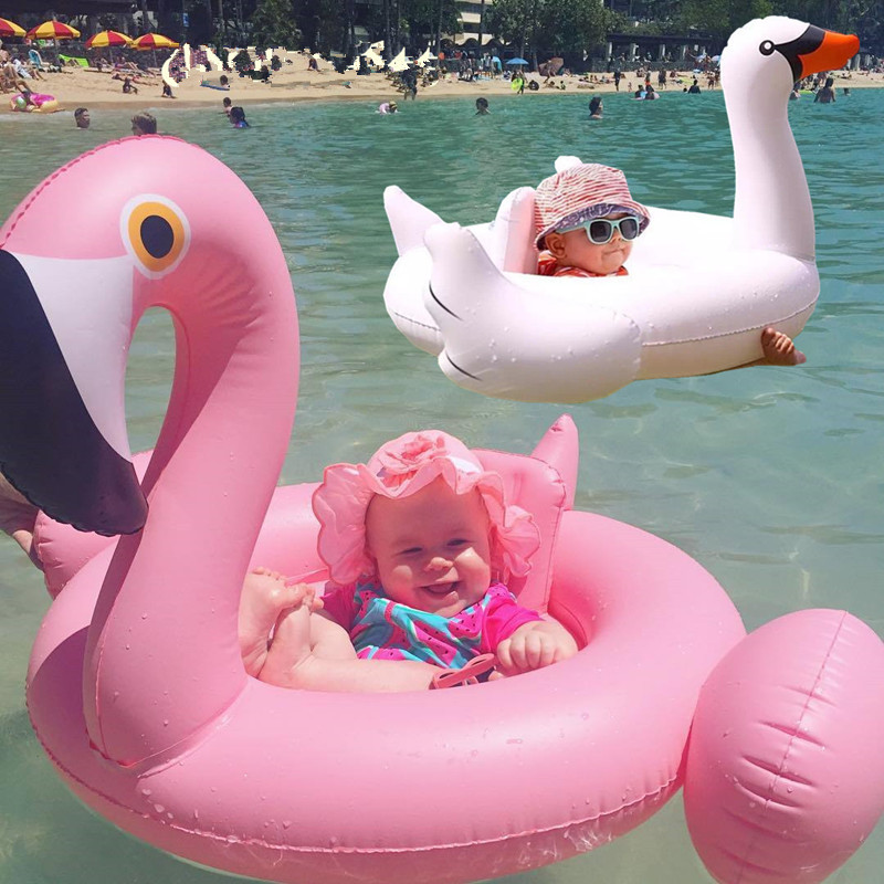 Inflatable Flamingo Unicorn Swan Giant Pool Float Toys For Kids Baby Swimming Ring Circle Beach Sea Toys Water Play Best Gifts