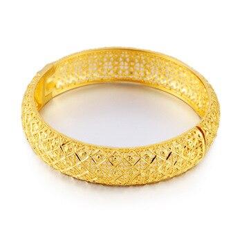 Pulsera de oro aluvial de Vietnam, pulseras de Flor retro chapadas, joyería para mujeres