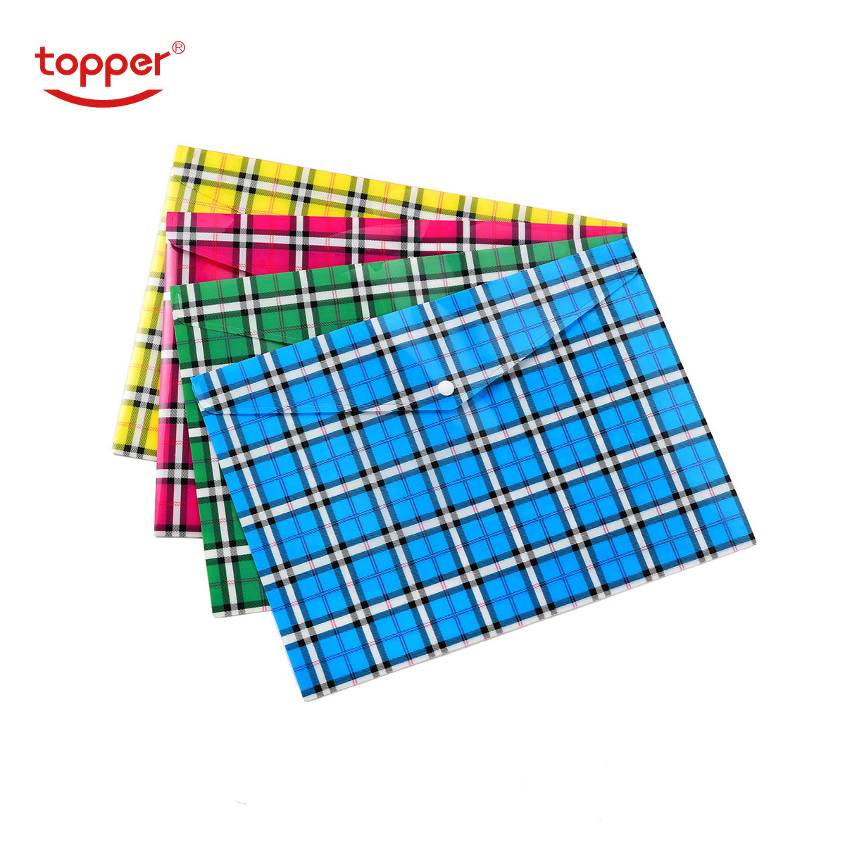 12pcs/set freeshipingA4/FC size opaque printed Plastic document bag Folders Filing Paper Storage Office School Supplies file bag