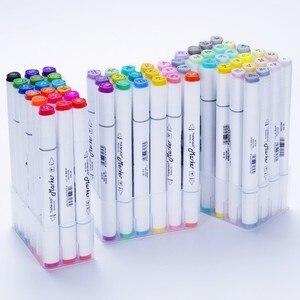 Image 2 - CHENYU 168 Farben Kunst Marker Alkohol Auf Wasserbasis Stift Dual Kopf Skizze Marker Pinsel Stift Für Zeichnung Manga Design Übersee Lager