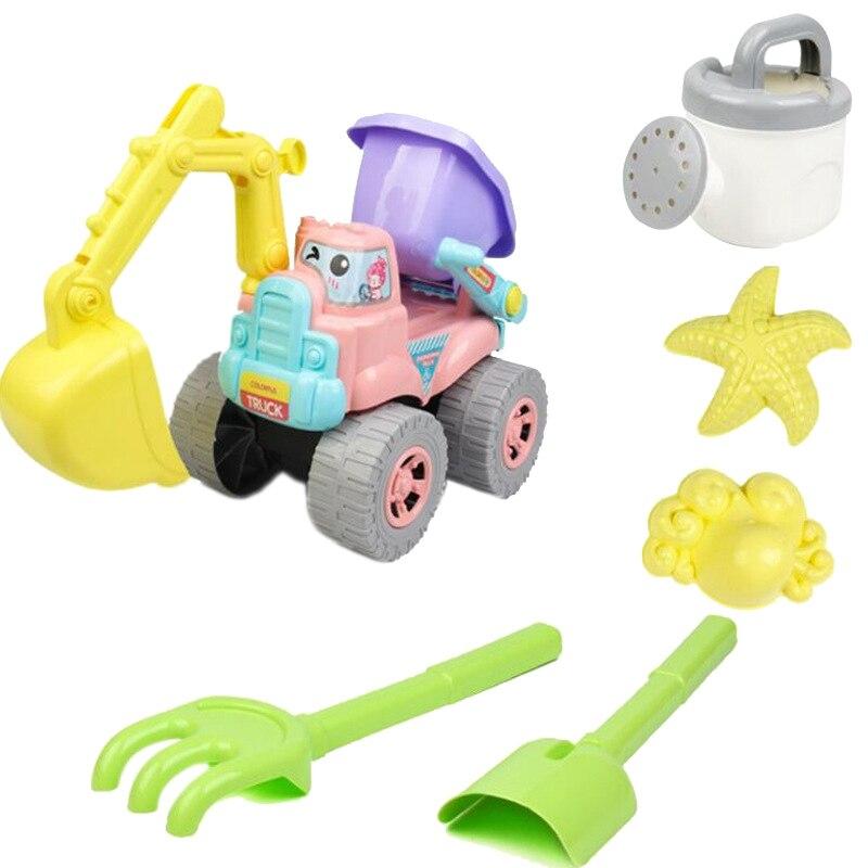 Beach Toy 6 Piece Set Children Play Sand Water Digging Tools Sand Tool Model Water Game Sand Playing Kids Bolsa Playa Juguetes