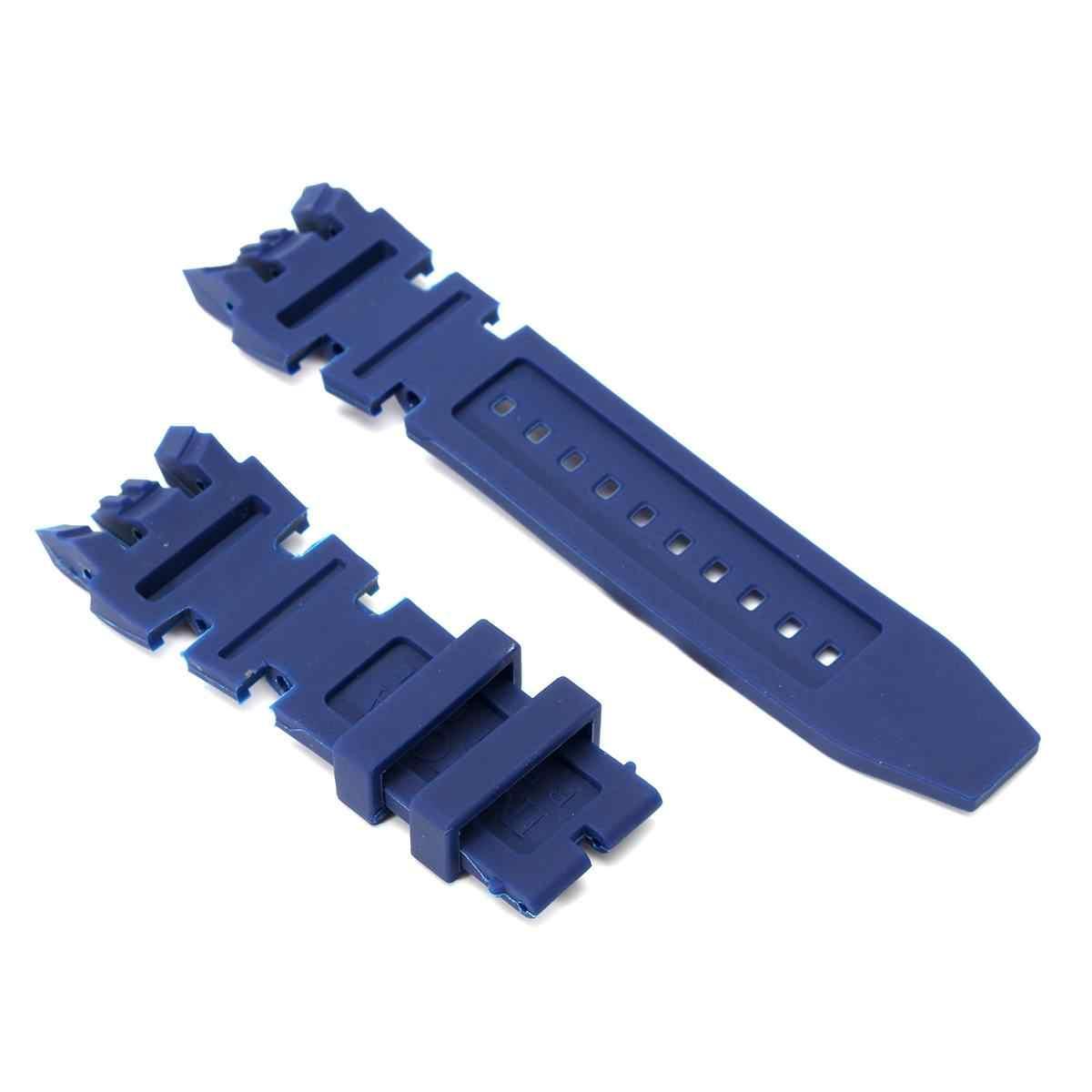 Nuevo juego de correa de reloj de goma de silicona Negro Azul para Invicta Subaqua Reserve reloj de pulsera de buceo analógica de repuesto para hombre