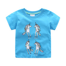 Jumpingbaby 2019 Girls Unicorn T-shirt Vetement Fille Kids T Shirt Baby Girl Clothes Summer Tops Animal Print Tshirt Koszulka стоимость