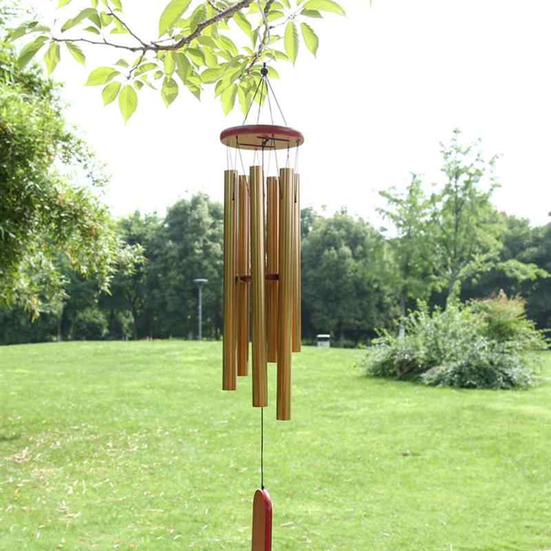 1 шт. настроенный ветряной колокольчик расслабляющие тона Металл Алюминий твердой древесины Висячие многотрубные полые Windchime