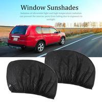 114*74cm 2 X Car Rear Side Window Sun Visor Shade Mesh Cover Shield Sunshade UV Protector